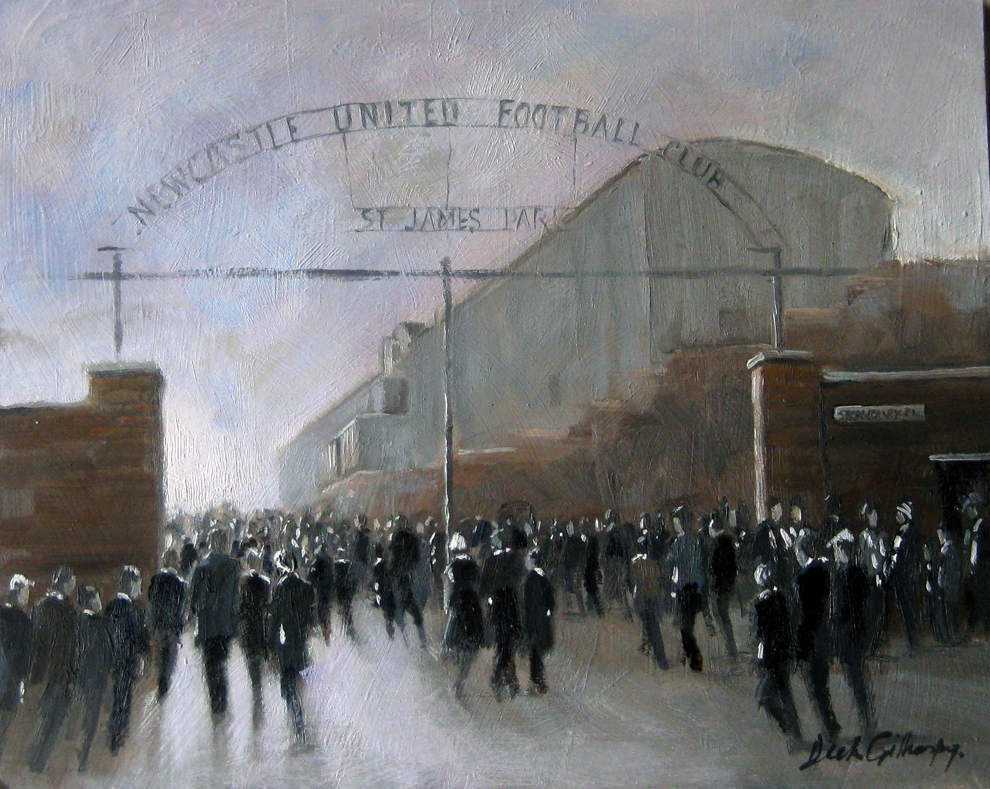 Old SJP,  original painting by Dick Gilhespy